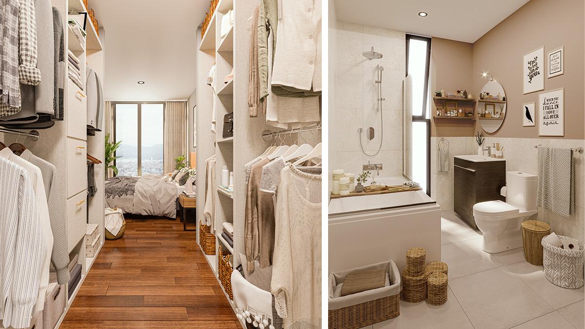 Closet C1 y Baño B
